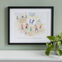 Personalized Family Dance Party Art