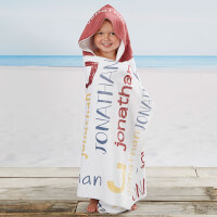Boys Name Personalized Kids Hooded Beach & Pool..