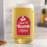 Beer My Valentine Personalized Printed 16 Oz..
