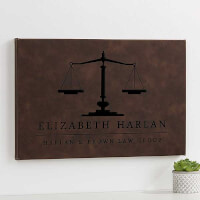 Scales Of Justice Personalized Leatherette Wall..