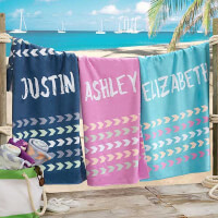 Tribal Inspired Name Personalized 35x72 Beach..