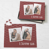 I Love Us Personalized Photo Puzzle