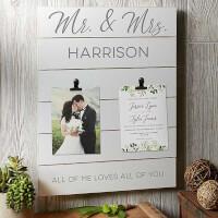 Wedding Photo & Invitation Personalized Wooden..