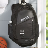 Under Armour Embroidered Black Backpacks