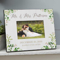 Personalized Wedding Picture Frame - Laurels Of..
