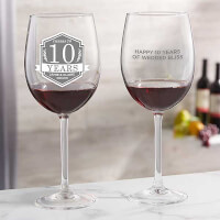 Anniversary Personalized 19 Oz Red Wine Glass