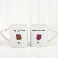 Romantic Personalized Coffee Mug Set - Like..