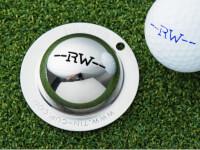Tin Cup: Custom Initial Golf Ball Marker
