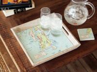 ScreenCraft Gifts: Wood-Framed Custom Map..