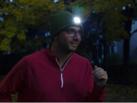 Night Scout: Mens Rechargeable LED Beanie Hat