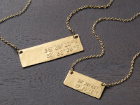 Becoming Jewelry: Hand Stamped Coordinates Bar..