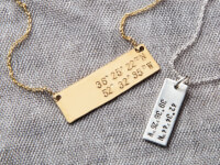 Becoming Jewelry: Hand Stamped Coordinates Tag..