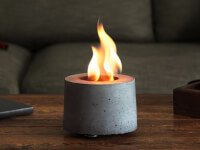 FLIKR Fireplace: Rubbing Alcohol Tabletop Fire Pit
