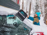 SnoShark®: Collapsible Paddle Snow Removal Tool