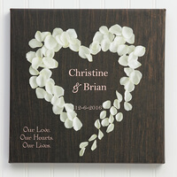 Personalized Canvas Print 16x16 Heart Of Roses