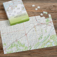My Hometown Personalized Map Jigsaw Puzzle