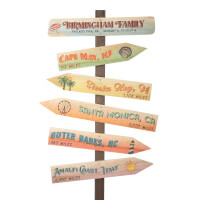 Personalized Vacation Signpost - Tropical