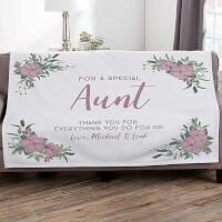 Floral Special Message Personalized 50x60..