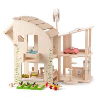 Energy Efficient Green Dollhouse & Garden
