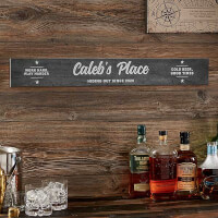 Man Cave Personalized Wood Sign