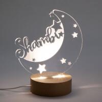 Personalized Moon & Stars Nightlight