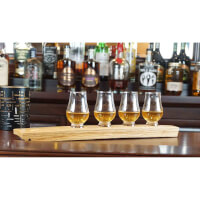 Barrel Stave Whiskey Flight With Four Wee..
