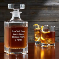Personalized Whiskey Decanter - Add Any Text