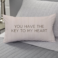 Key To My Heart Personalized Lumbar Velvet Throw..