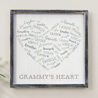 Farmhouse Heart Personalized Blackwashed Wood..