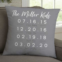 Memorable Dates Personalized 18-Inch Velvet..
