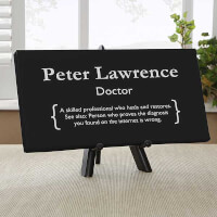 Doctor Definition Personalized Mini Canvas Print