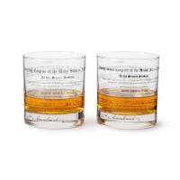 Prohibition History Glasses - Set Of 2