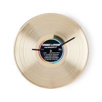 Personalized Gold LP Clock