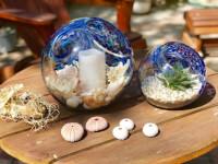 Handblown Art Glass Terrarium / Candle Holder