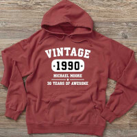 Vintage Birthday Personalized Hanes Adult..