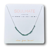 SOULMATE Morse Code Necklace