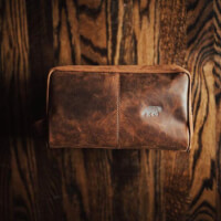 Premium Leather Dopp Kit