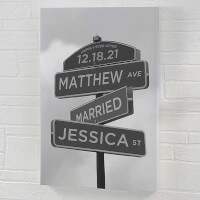 Street Sign Wedding Personalized Canvas Print -..