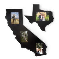 State Shaped Picture Frame