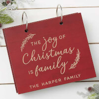 The Joy Of Christmas Personalized Wood Photo..