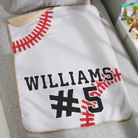 Baseball Personalized 30x40 Sherpa Blanket