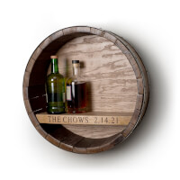 Personalized Wine Barrel Hanging Bar