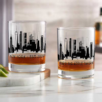 New York Skyline Personalized Printed Whiskey..