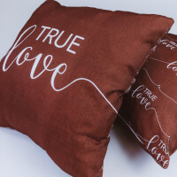 True Love (Double Sided) - 2 Pillow Set