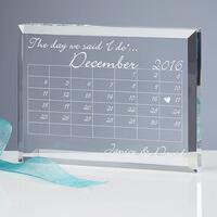 Wedding Calendar Personalized Wedding Keepsake