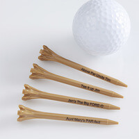 Custom Golf Tees - Natural Wood - Set Of 50
