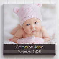 Baby Photo Canvas Print 20x20 - Little Memories