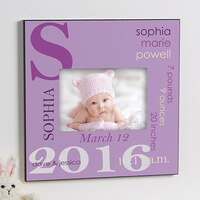 Personalized 5x7 Picture Frame - Baby Girl