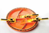 Construction Plate & Utensil Set