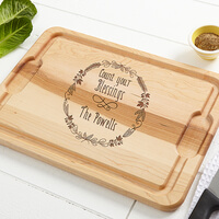 Personalized Kitchen Maple Cutting Board - Count..